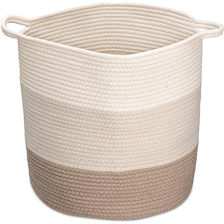 rond /étanche coton et lin Abizoe Grand panier /à linge pliable avec poign/ées