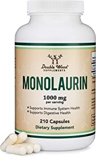 Monolaurin 1,000mg per Serving, 210 Capsules (Vegan Safe, Non-GMO, Gluten Free, Made in The USA) Immune Health Support by ...