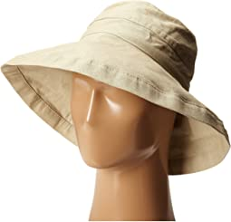 SCALA - Cotton Big Brim Sun Hat with Inner Drawstring