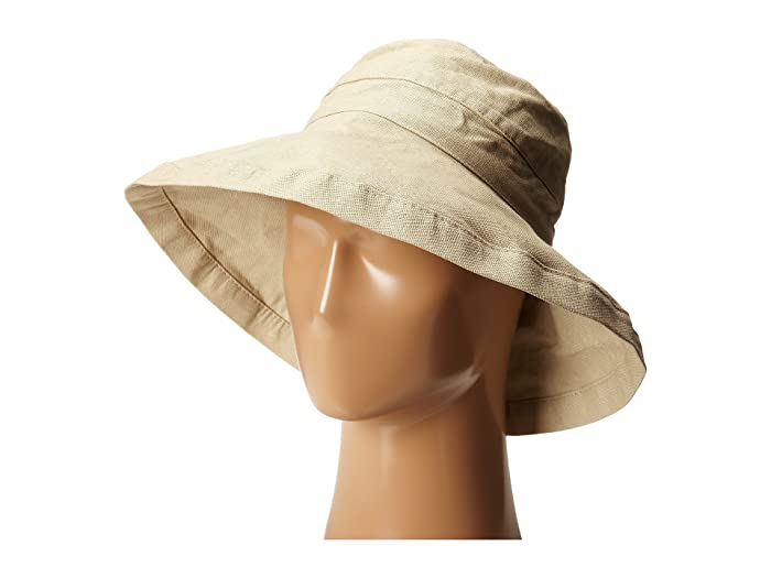 Scala Cotton Big Brim Sun Hat With Inner Drawstring
