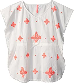 Seafolly Kids Summer Essentials Embroidered Kaftan Cover-Up (Little Kids/Big Kids)