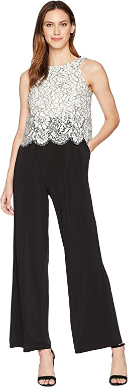 Jumpsuit with Scallop Trim