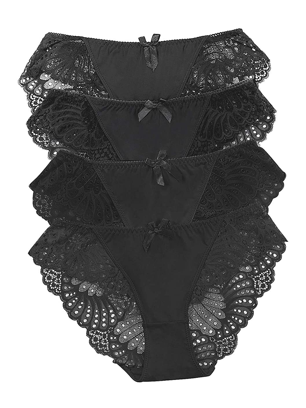 Panties Underwear Hipster Panties Sexy Lace Briefs for Women (4 Pack)
