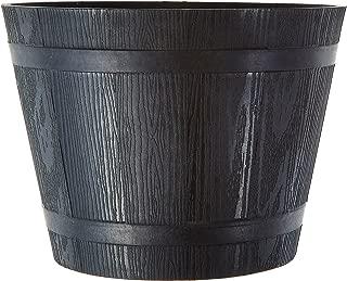 Fourwalls PVC Planter (17 cm, Black)