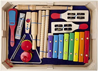 Melissa & Doug Deluxe Band Set With Wooden Musical Instruments and Storage Case