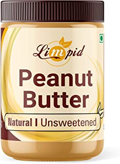 Limpid Peanut Butter | Natural & Unsweetened | Peanut Spread - Butter | Gluten Free - Completely Vegan (340 Grams)