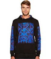 Versace Jeans - Printed Patch Hooded Neoprene Sweatshirt