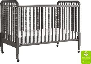 DaVinci Jenny Lind 3-in-1 Convertible Portable Crib in Slate - 4 Adjustable Mattress Positions, Greenguard Gold