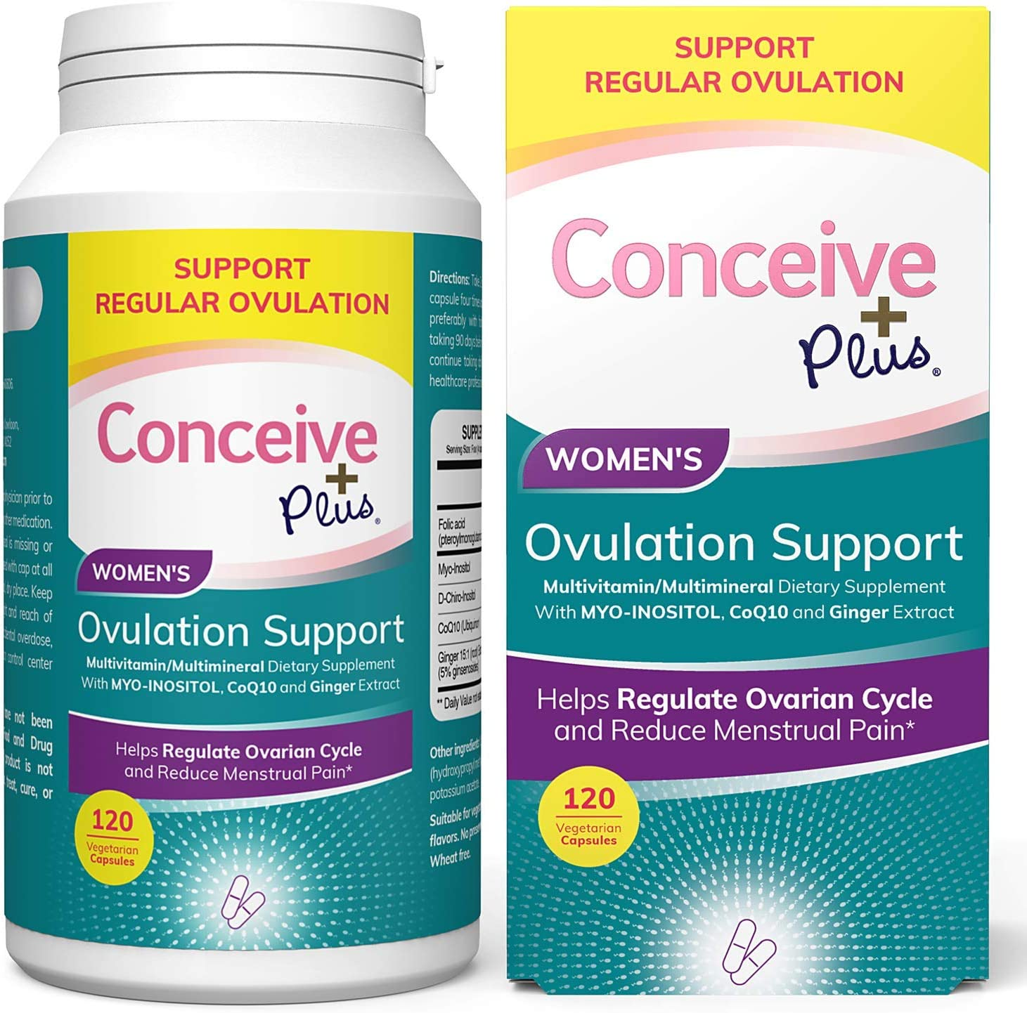 Sacramento Mall CONCEIVE PLUS Myo-Inositol D-Chiro Beauty products – Supply 30-Day Inositol