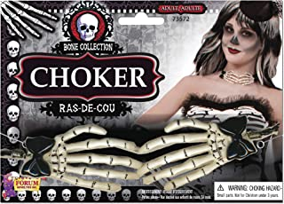 Forum Novelties Ladies Skeleton Hand Choker