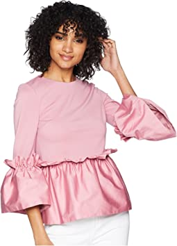Ted Baker Sherrly Pleated Waist Crop Sleeve Top
