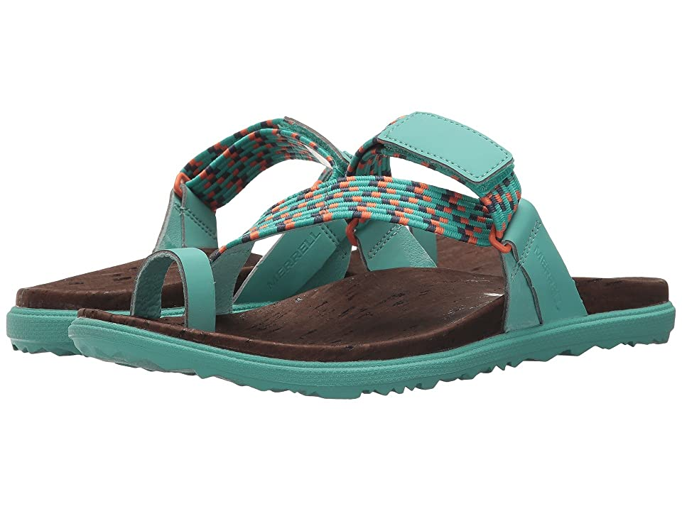Merrell Around Town Sunvue Thong Woven (Turquoise) Women