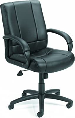 Boss Office Products Caressoft Executive Mid Back Chair in Black