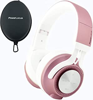 PowerLocus P3 Bluetooth Headphones Over-Ear, [40h Playtime, Bluetooth 5.0] Wireless Hi-Fi Stereo Headphone, Foldable with Mic,Deep Bass, Wired Mode for Cell Phones/Laptop/PC/TV (Matt Rose Gold)
