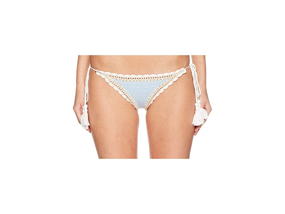 Jonathan Simkhai Crochet Side Tie Bikini Bottoms (Sky Combo) Women