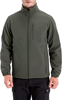 TRAILSIDE SUPPLY CO. Mens Lightweight Winter Softshell Fleece Jackets and Coats