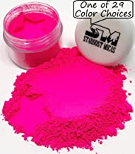 Stardust Mica Neon Pigment Powder Dye for Soap Making, Slime Coloring, Epoxy Resin, Bright True Fluorescent Colors Cold Process Color Stable Matte Colorant Poppin Pink