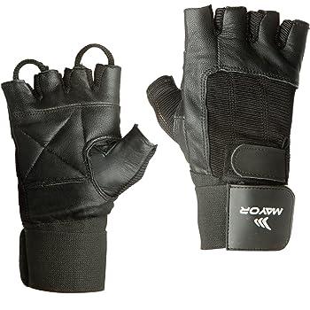 Mayor MGG1101 Hamilton Black Gym Gloves (Large)