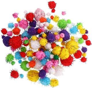 BESPORTBLE 240 peças Pompons Artes Artesanato Pompons Bolas para Hobby, Artigos Criativos Artesanato DIY Decorações