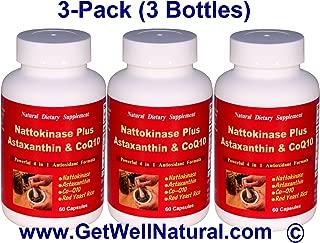 Nattokinase Plus Astaxanthin & CoQ10 (60 Capsules) - 3 Pack