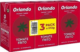 Orlando Tomate Frito Clásico - Pack de 3 x 210 g - Total :