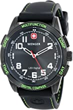 Wenger Men's LED Nomad Compass Watch 70433