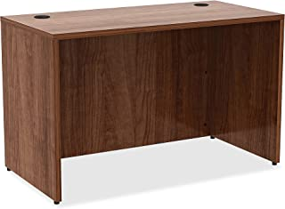 Lorell Essentials Desk, Walnut Laminate