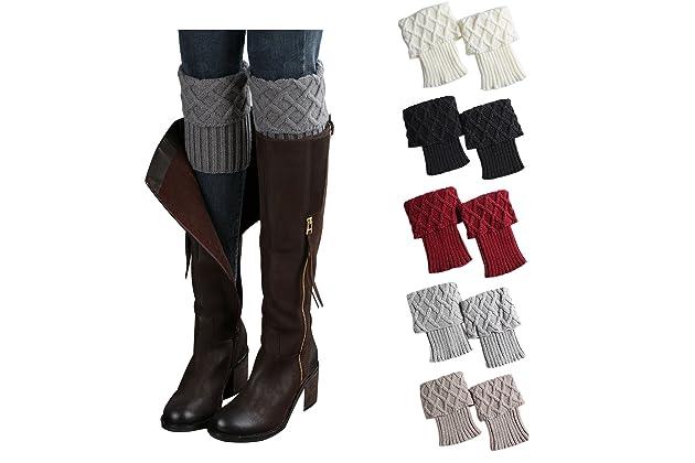 aef0fe1c6731c Bestjybt Womens Short Boots Socks Crochet Knitted Boot Cuffs Leg Warmers  Socks