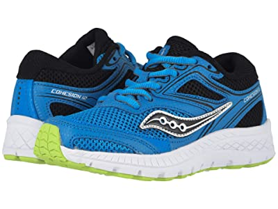 Saucony Kids Cohesion 12 LTT (Big Kid) (Blue/Black) Boys Shoes