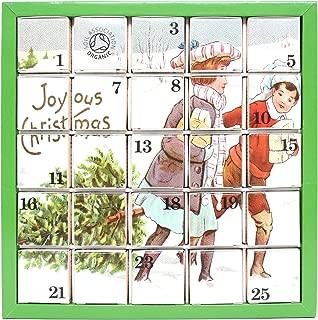 English Tea Shop X'mas Advent Calendar Joyous Christmas Pyramid Tea Bags (Pack of 2, Total 50 Tea Bags)