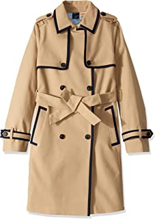 Women's Adaptive Long Trench with a Velcro Brand Closure Belt