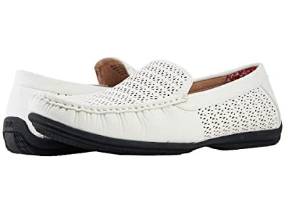 Stacy Adams Cicero Casual Slip On Loafer (White) Men