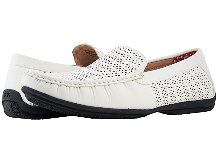 Mens Retro Shoes | Vintage Shoes & Boots Stacy Adams Cicero Casual Slip On Loafer White Mens Shoes $69.95 AT vintagedancer.com