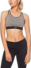 Nike Women's Impact Sports Bra, Carbon Heather/Black/White, Size Medium