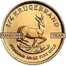 1967 ZA - Present South Africa 1/4 oz Gold Krugerrand (Random Year) Gold About Uncirculated