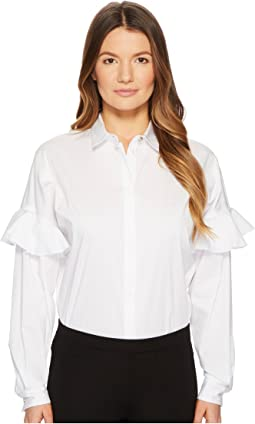 Shirt Button Up w/ Ruffle Sleeves