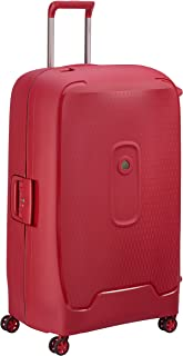 Delsey Paris Moncey Valise 82 cm Trolley 4 Double Wheels Suitcase (Hardside) Red (00384483004)