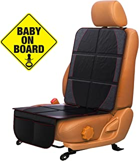 FORTEM Car Seat Protector, Durable Waterproof Backseat Cover for Baby, Protects Against Damage (1 Pack)