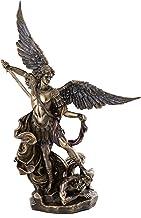 مجموعه برتر Archangel St. Michael Statue Fighting Evil شیطان Demon- مجسمه صلح و عدالت سنت میگل پیروزی لوسی در Premium Cast Cast Bronze-10-Inch Collectible Figurine Roman Roman