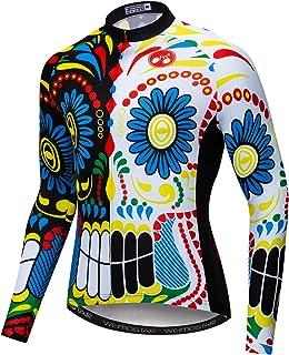 Cycling Jerseys for Men Tops Biking Shirts Long Sleeve Full Zipper Pocket
