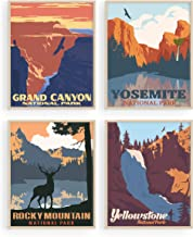 Vintage National Park Posters Set - By Haus and Hues | National Parks Art Prints Nature Wall Art and Mountain Print Set Ab...