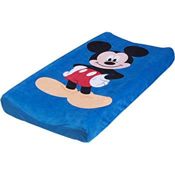 Disney Mickey Changing Pad Cover, Blue, Red, Black