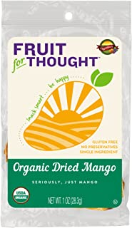 Organic Dried Mango Strips - Seriously It's Just Mango, No Added Sugar, No Preservatives - Just Naturally Grown Mango Served in On-The-Go 1 Ounce Individual Snack Packs (Pack of 12)