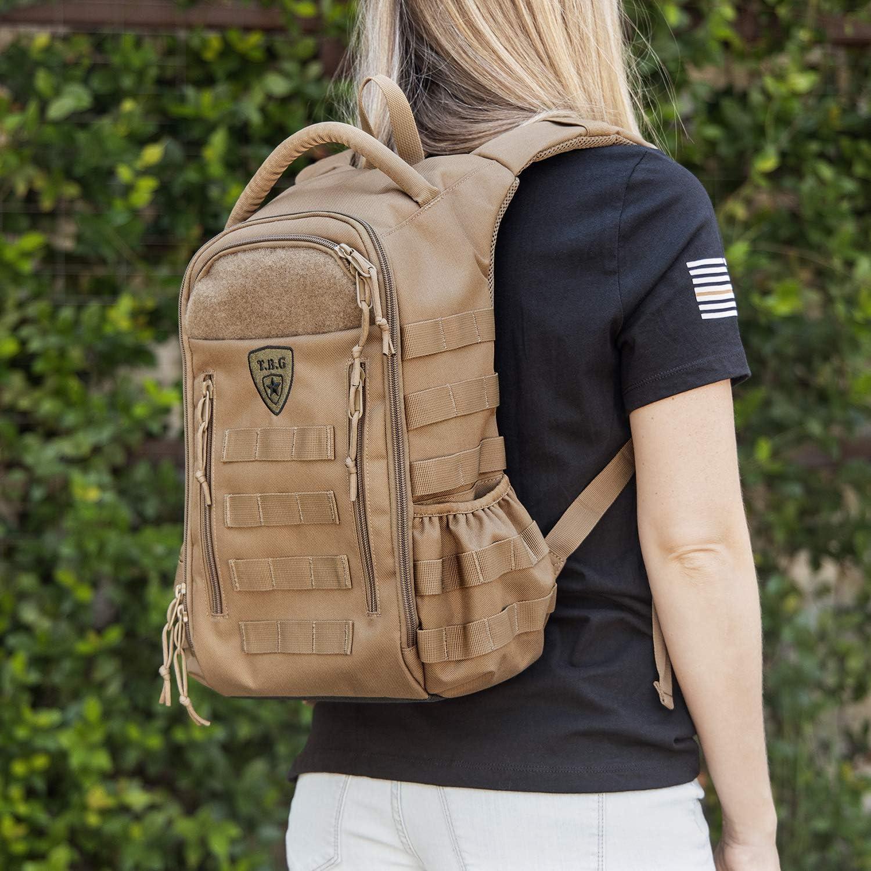 TBG - Daypack Mini - Tactical Diaper Bag Backpack - Small - for Women & Kids (Black Camo)