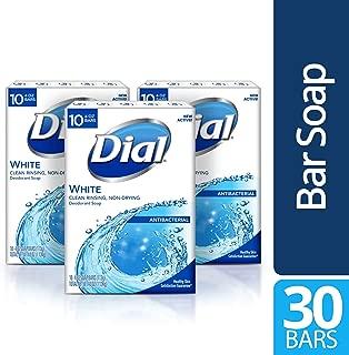 Dial Antibacterial Bar Soap, White, 30 Count