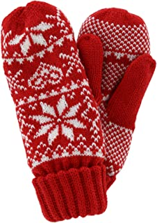 Grand Sierra Women's Fair Isle Knit Mitten with Sherpa Lining