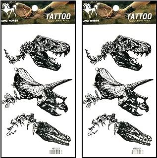 Best dinosaur skull tattoo Reviews