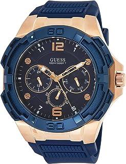 ساعة كوارتز بعرض انالوج وسوار سيليكون للرجال من جيس W1254G3