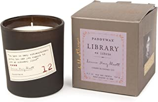 Paddywax Library Collection Louisa May Alcott Scented Soy Wax Candle, 6.5-Ounce, Cherry Blossoms & Ivy