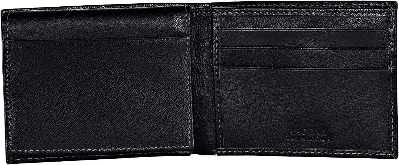 Haggar Men's Leather RFID Wallet Extra Capacity Attached Flip Pocket
